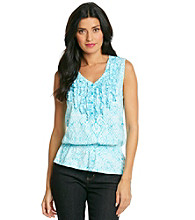 Jones New York Sport® Petites' Vneck Tank With Ruffles