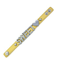 BCBGeneration™ Yellow and Silvertone Sweet Affirmation Bracelet