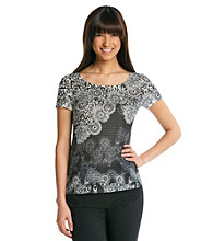 Notations® Petites' Printed Knit Top