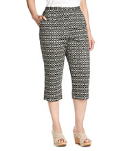 Alfred Dunner® Plus Size Embroidered Capri