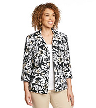 Alfred Dunner® Plus Size Textured Jacket