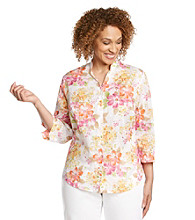 Alfred Dunner® Plus Size Tropical Woven Shirt