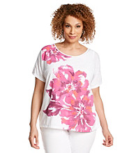 Alfred Dunner® Plus Size Floral Knit Top