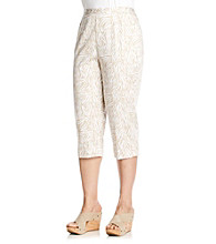 Alfred Dunner® Plus Size Animal Print Capri