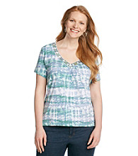 Ruby Rd.® Plus Size Tie Dye Knit Top