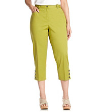 Ruby Rd.® Plus Size Button Hem Capri