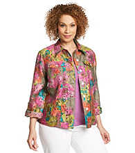 Ruby Rd.® Plus Size Floral Burnout Shirt