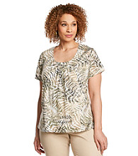 Ruby Rd.® Plus Size Burnout Knit Top