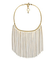 Michael Kors® Goldtone Fringe Bib Necklace