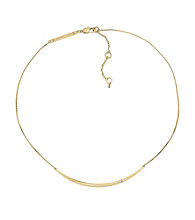 Michael Kors® Goldtone Clear Cubic Zirconia Bar Necklace