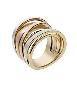 Michael Kors® Tri-Tone Large Intertwined Ring