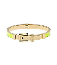 Michael Kors® Goldtone Cadmium Yellow Epoxy Buckle Bangle