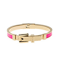 Michael Kors® Goldtone Neon Pink Epoxy Buckle Bangle