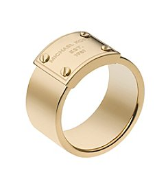 Michael Kors® Goldtone Logo Plate Ring