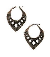Lucky Brand® Silvertone Hoop Earrings
