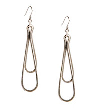 Lucky Brand® Silvertone Orbital Earrings