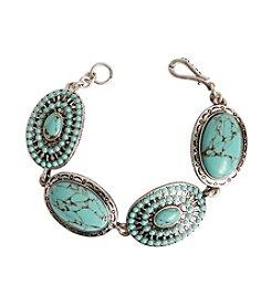 Lucky Brand® Silvertone Stone Bracelet
