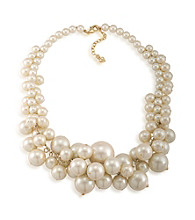 Carolee® A Pearl Affair Cluster Necklace in White