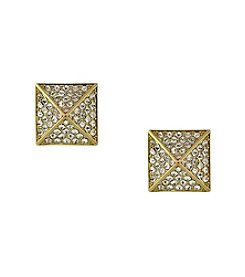 Vince Camuto™ Goldtone Pave Pyramid Stud Earrings