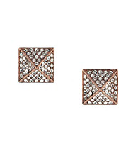 Vince Camuto™ Rose Goldtone Pave Pyramid Stud Earrings