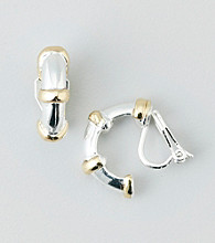 Lauren Ralph Lauren Gold Two Tone Clip Earrings