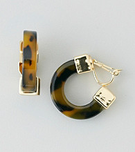 Lauren Ralph Lauren Tortoise Clip Earrings