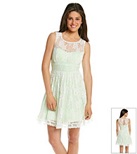 Bee Darlin' Juniors' Ivory Lace Illusion Party Dress