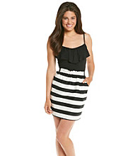 A. Byer Juniors' Striped Skirt Dress