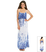Sequin Hearts® Juniors' Tye-Dye Maxi Dress