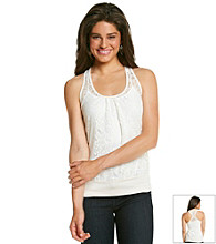 Eyeshadow® Juniors' Lace Banded Bottom Tank