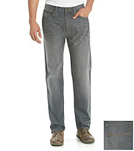 Ruff Hewn Men's Grey 5-Pocket Classic Straight Fit Jean
