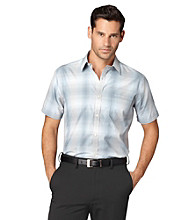 Van Heusen® Men's Aqua Arona Studio Collection Space Dye Plaid Woven