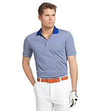 Izod® Men's Short Sleeve Feeder Stripe Golf Polo