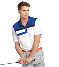 Izod® Men's Bright White Colorblock Golf Polo