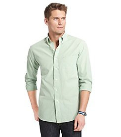 Izod® Men's Long Sleeve Essential Checkered Button-Down Shirt