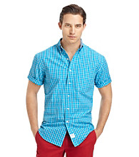 Izod® Men's Short Sleeve Plaid Button Down