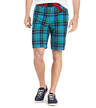 Izod® Men's Hawaiian Ocean Plaid Madras Shorts