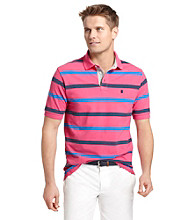 Izod® Men's Short Sleeve Oxford Pique Stripe Polo