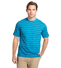 Izod® Men's Short Sleeve Striped Crewneck Polo