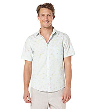 Perry Ellis® Men's Azzuro Short Sleeve Floral Stripe Woven