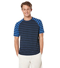 Perry Ellis® Men's Ink Short Sleeve Slub Stripe Crew Tee Shirt