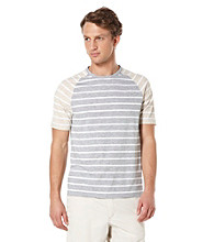 Perry Ellis® Men's Alloy Short Sleeve Slub Stripe Crew Tee Shirt