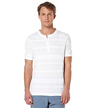 Perry Ellis® Men's Bright White Short Sleeve 4 Button Henley