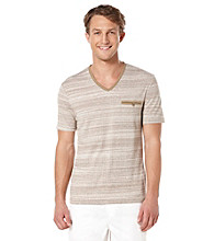 Perry Ellis® Men's Hammock Short Sleeve V-Neck