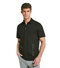 Calvin Klein Men's Black Short Sleeve 3 Button Polo