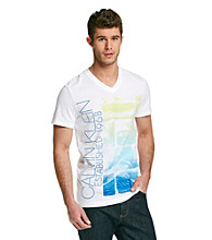 Calvin Klein Men's White Short Sleeve Graphic Tee