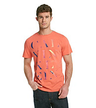 Calvin Klein Men's French Red Short Sleeve Graphic Tee