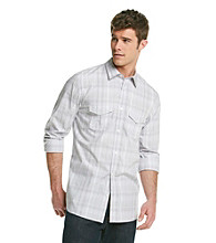 Calvin Klein Men's Coldfront Long Sleeve Plaid Poplin Button Down Shirt