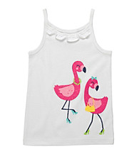 Carter's® Girls' 2T-6X White Flamingo Printed Tank