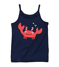 Carter's® Girls' 2T-6X Navy Crab Applique Tank